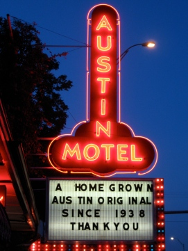 Austin motel landmark, copyrighted image